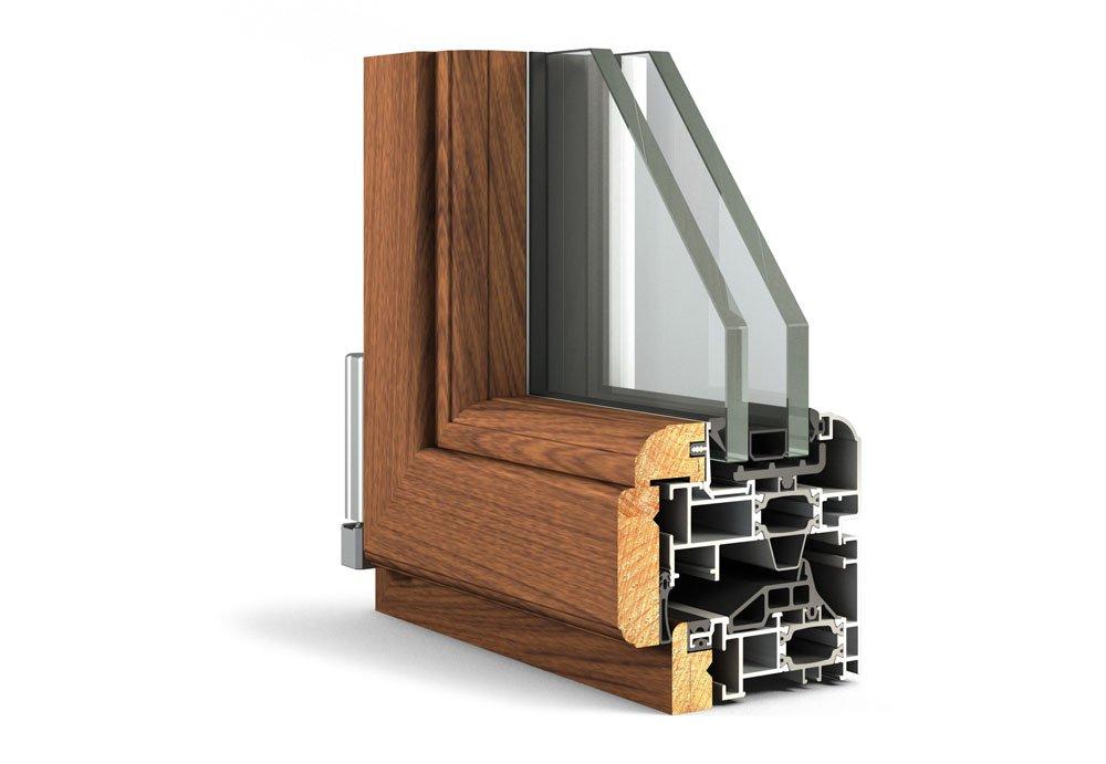 Aelle 100 sth alluminio legno pobbe serramenti e design - Finestre legno e alluminio ...