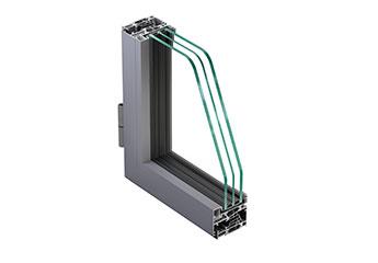 Finestre e porte in alluminio a battente NC 65 STH HES Slim